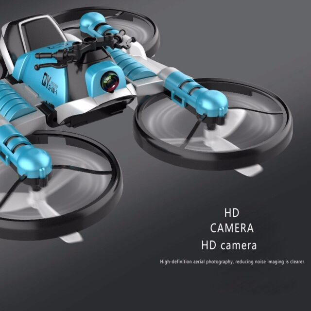 Creative RC Motorcycle-Drone 2.4G WiFi Dual-Mode Transforming 1080 HD