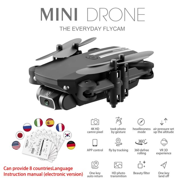 2020 NEW RC drone 4k HD wide angle camera wifi fpv