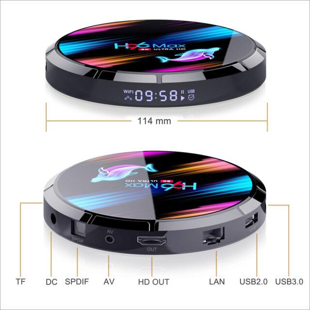 Smart TV Box Android 9.0 4GB 128GB Amlogic S905X3 2.4G/5G WIFI BT4.0