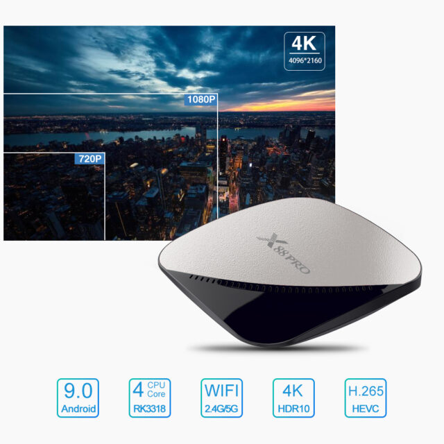 Android 9.0 TV Box 4GB RAM Max 128GB  5G Dual Wifi Voice Assistant