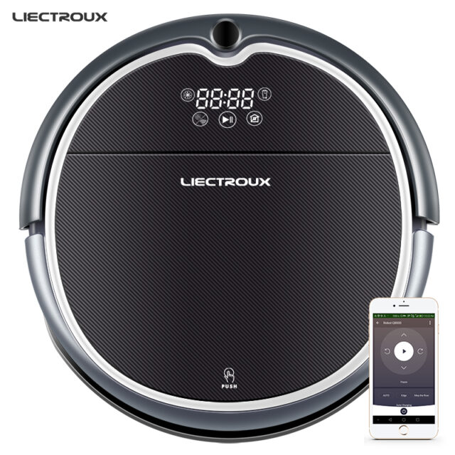 LECTROUX Robot Vacuum Cleaner WiFi,Map Navigation