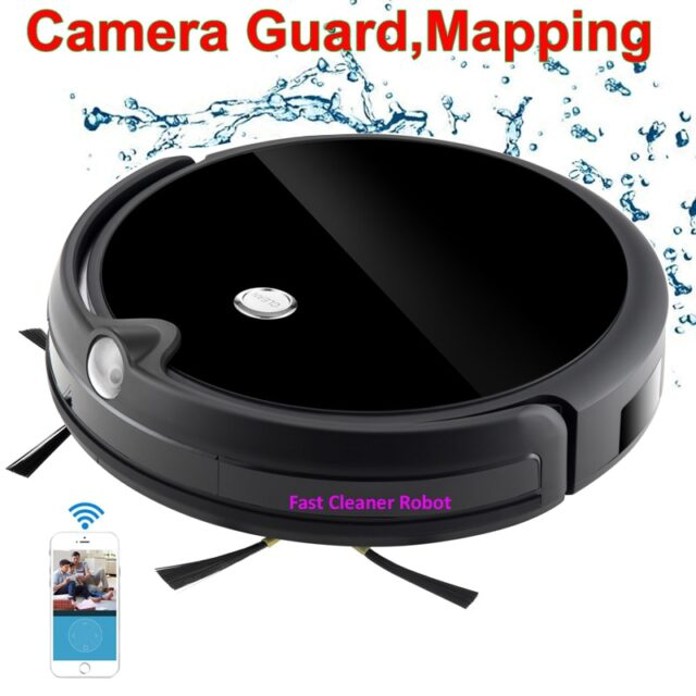 Camera Guard Video Wireless Vacuum Cleaner With Map Navigation,WiFi App Control