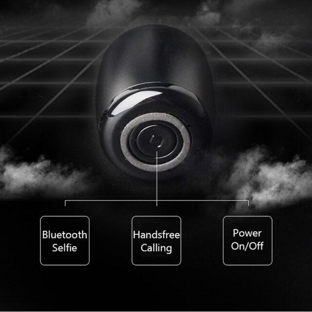 Metal Super Mini Wireless Bluetooth Speaker Portable Pocket Size with Selfie Control Microphone Lanyard