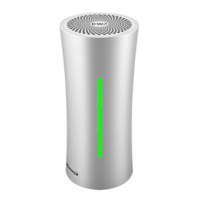 Bluetooth Wireless Portable Small Waist Speaker Bluetooth Music Player Silver Subwoofer Supports SD Card Playback