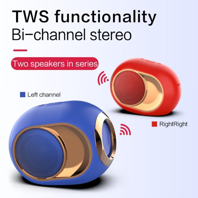 Bluetooth 5.0 Speaker Wireless Loudspeakers For Phone PC Waterproof Support TF AUX USB FM