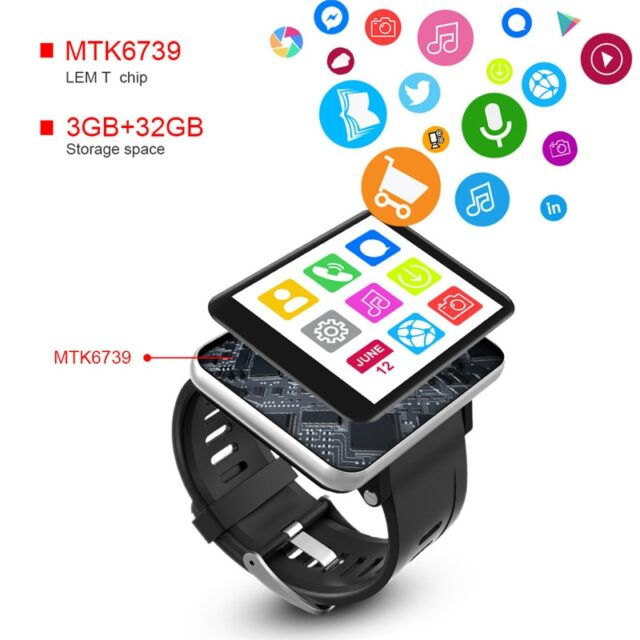 4G LTE Smart Watch Phone Android 7.1 3GB 32GB 5MP Bluetooth Fashionable Smartwatch