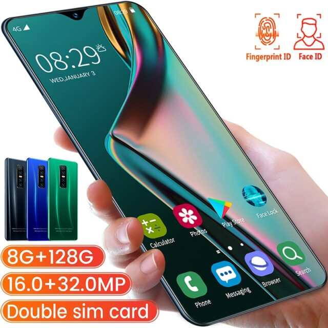 V17 PRO 6.53 Inch Full-screen Mobile Phone 8G 256G Screen Fingerprint & Face Recognition
