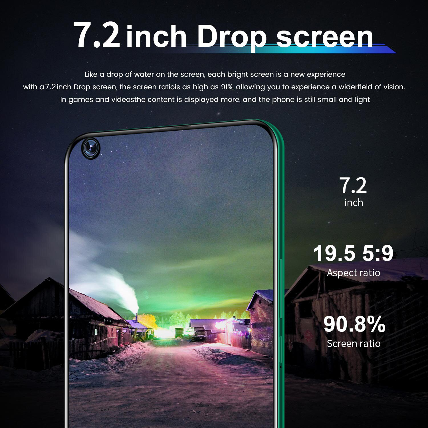 Galay S20+ Smartphone 7.5inch 8GB RAM 256GB ROM Snapdragon 855 Android Cellphone Dual SIM Mobile Phone Cell Smart Phones S20