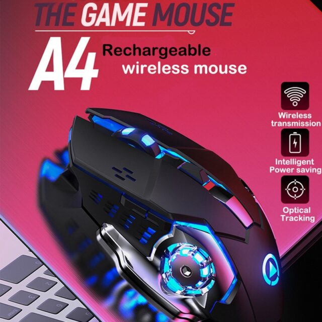 Silent Wireless Mouse 1600 DPI Rechargeable Mouse Gaming 2.4G USB Ergonomic Wireless Gaming Mouse For Laptop Computer