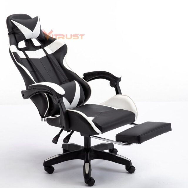 WCG Gaming Chair Racing Chair Recliner Office computer Chair lying household Chair LOL Cafes Sports Chair Armchair Footrest