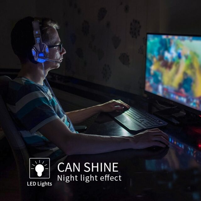 Professional Led Light Gamer Headset for Computer PS4