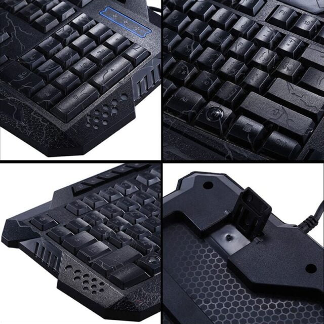Darshion M300 Russian English Backlit Keyboard LED USB Wired Colorful Breathing Waterproof Computer Crack Gaming Keyboard