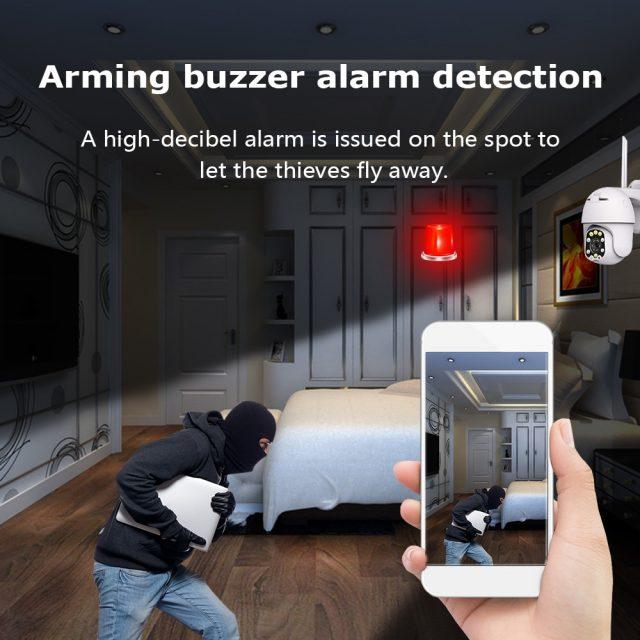 1080P IP Camera Wifi Outdoor Dome Wireless Security Camera Digital Zoom 2MP
