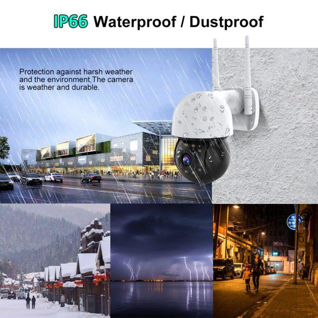 WIFI IP Camera Outdoor Night Full Color Wireless Speak Audio 4X Digital Zoom