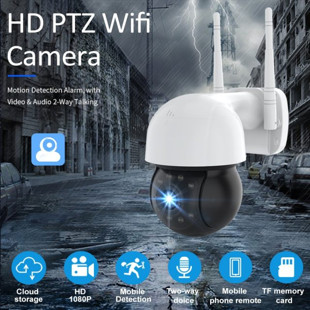 WIFI IP Camera Outdoor Night Full Color Wireless Speak Audio 4X Digital Zoom