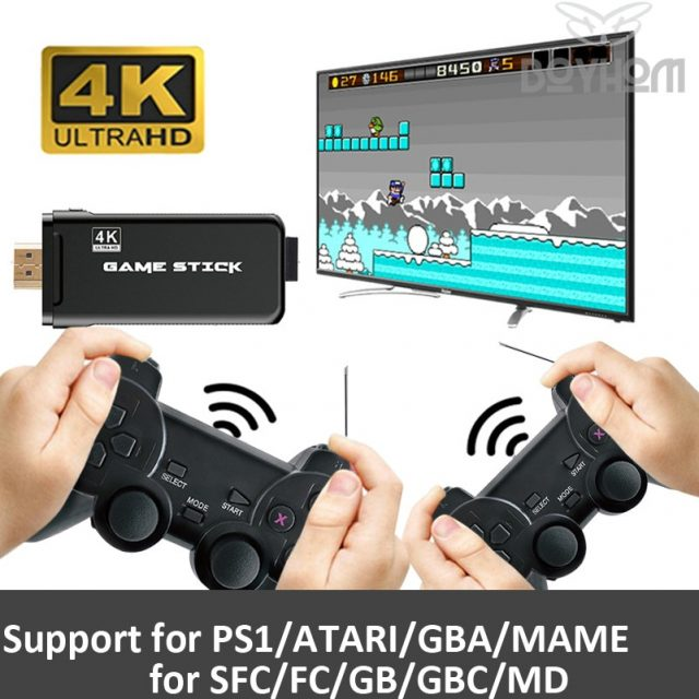 Video Game Console With 2.4G Wireless Controller 10,000 Games For PS1/GBA