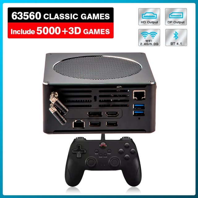 Epic Gaming Console X Mini PC Box Built-in 63,000 Games PS3/PS2/PS1/WII/DC/PSP