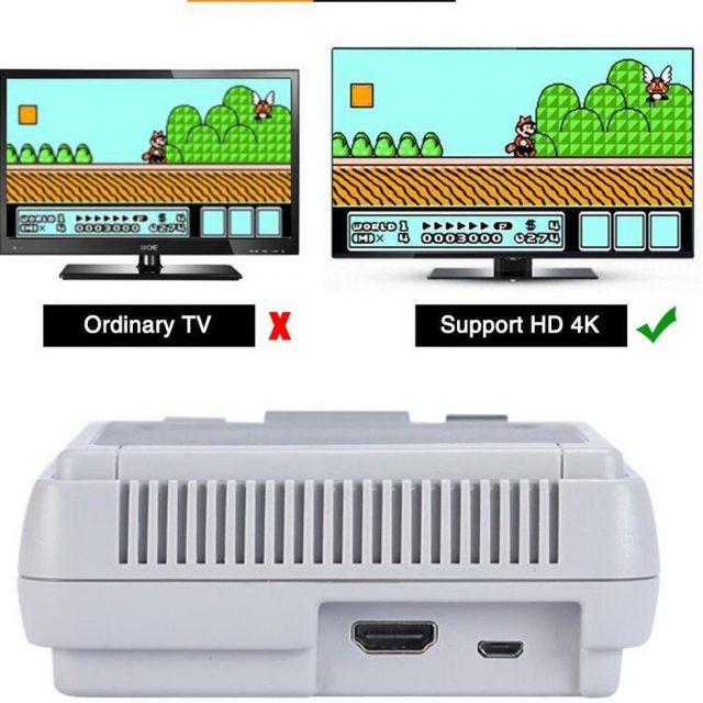 Mini HD Family TV 8 Bit SNES Video Game Console 621 Games