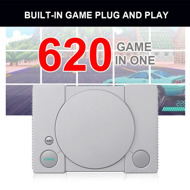 620 Retro Games Console Double Players 8 Bit Support AV Out Family TV Retro