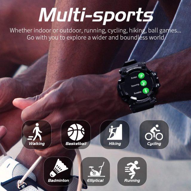 Smart Watch Man Touch Screen Blood Pressure Blood Oxygen Pedometer