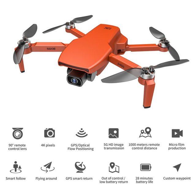 4k Dual Camera Drone Professional GPS Wifi 5G Quadcopter FPV 25mins 250g