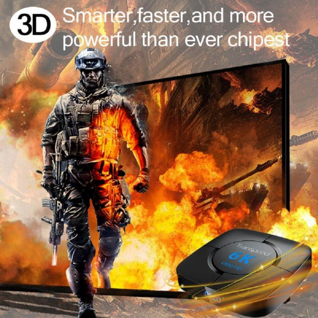 Android 10 Bluetooth TV Box Voice Assistant 6K 3D Wifi RAM 64G